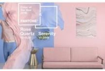 Rose Quartz + Serenity :: Pantone Color of the Year 2016 / A softer take on color for 2016: For the first time, the blending of two shades – Rose Quartz and Serenity are chosen as the PANTONE Color of the Year As consumers seek mindfulness and well-being as an antidote to modern day stresses, welcoming colors that psychologically fulfill our yearning for reassurance and security are becoming more prominent.