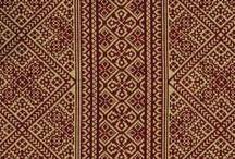 Fabric - RED + BURGUNDY