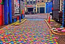 Street art, illusine ottica e immagini psichedeliche