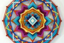 Ojo de Dios....occhio di dio... creare un mandala con fili di lana come facevano gli indiani