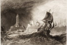 Lupton's Engravings of Turner's 'Harbours of England' / J. M. W. Turner, together with the engraver Thomas Lupton, conceived of a series of paintings and accompanying engravings entitled 'The Ports of England' (later 'The Harbours of England'), originally intending to consist of 24 paintings. By the end of Turner's life, only 12 were completed. These engravings influenced the writing of Marcel Proust (he never saw the colour paintings) and were, together with other works of art, one of the inspirations for the work of his character Elstir.