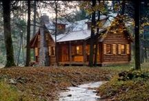 Log cabin / I plan to build a small log cabin. These are images to help me design it.