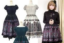 Japanese Lolita Clothing / Japan's most famous fashion export - originally inspired by Victorian and Rococo era styles, some brands now showcase a punk influence and flair!