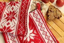 Noël - maniques tricot