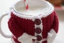 Noël - mug cosy / Crochet - Inspirations Noël mug cosy