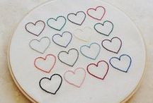 Saint Valentin - broderie / Crochet - Inspirations St Valentin broderie