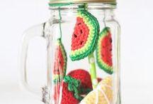 Printemps - pastèque / Crochet - Inspirations Printemps pastèque