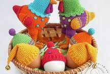 Pâques - poule / Crochet - Inspirations pâques - poule