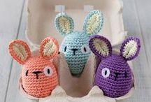 Pâques - lapin / Crochet - Inspirations Pâques lapin