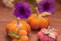 Automne - citrouilles / Crochet - Inspirations automne