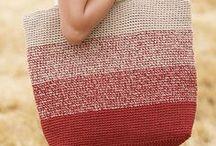 Sac de plage / Inspiration sacs de plage Crochet ou Tricot