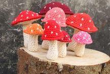 Automne - Champignons / Inspiration crochet - automne