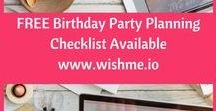 Birthday Party Hacks and Planning Checklist / Birthday party planning at your hands? No problem - manage your birthday party planning stress free with our hacks and checklists. But first, download the free video party invitation app at www.wishme.io and add convenience to your planning.