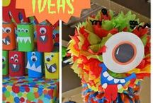 Monster Birthday Party Ideas / Make your cute monster's birthday scary! Decorate with scary monster stuffies and make their monster birthday party memorable and scary ;) Find monstrous inspiration here and before you do anything else, dress your baby like a monster and take some awesome pictures and videos and use them in their own monster theme birthday invitations. Download the video invitation app at www.wishme.io today and send your first monster invitation out – get real with your monster guests!