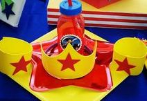 Wonder Woman Birthday Party /  Girls can be super heroes too! Create the perfect super hero birthday party by incorporating Wonder Woman in your party! Find amazing ideas and printables here. Download the Wish Me app @ www.wishme.io to send photo or video invitations to your Wonder Woman Birthday Party today!
