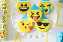 Emoji Birthday Party Ideas / Who would have thought emoji's would be a huge HIT with kids. Get them laughing with an Emoji Birthday Party! Find inspiration here. Download the Wish Me app @ www.wishme.io to send photo or video invitations to your Emoji Birthday Party today!