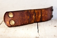 Leather Cuffs & Bracelets / Leather Bracelets, Cuffs and More....  / by DreadStop