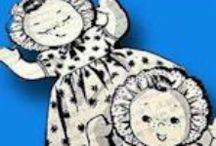 Cloth Doll Patterns - Topsy-Turvy Dolls