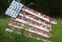US Flag in Art and Display as seen on the road / In my travels across this great land I see many representations of the flag of the United States in art and sometimes just an unusual perspective with the real thing.  It is a symbol of freedom, determination, sacrifice and hope.