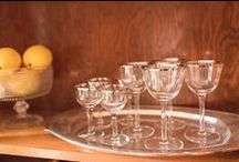 Vintage Stemware / Vintage stemware, vintage wine glasses, vintage water goblets and vintage champagne coupes.  Depression glass, mid-century stems and more.  Shop for vintage kitchenware and barware at Vintage Grace - shopvintagegrace.com
