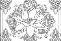 Идеи для росписи-Контуры / контурные рисунки для использования в росписи