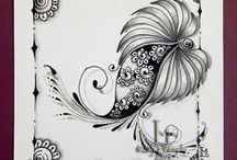 Zentangle & Doodling / Рисунки в технике зентангл и дудлинг - для вдохновения