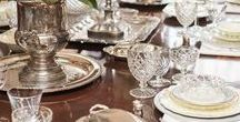 Vintage for the Holiday Table / A beautifully set table for a Holiday dinner elevates the importance of the holiday.  Using vintage dinnerware on your tablescape will add sentiment and elegance when you combine personal heirlooms with other charming vintage dishes.  Merry Christmas!