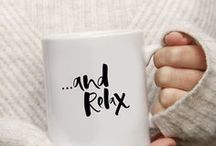 too wordy mugs / A cute collection of hand lettered mugs for new mamas and papas and cosy nights in!