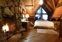Design Timber Homes / Abraham Lincoln could have never imagined these beautiful and luxurious wood frame homes. Enjoy the tranquility and have fun with the Log Home Designer at sikkens.chameleonpower.com.   Think of it as Lincoln Logs for grownups. :-)