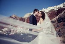 Your Wedding in Santorini / Idyllic and quaint #Santorini is the ideal place for your happiest day of your life! Hold your wedding in this magical island and let the romance take you to the clouds. http://goo.gl/W6rvkU