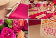 Mike & Kristin 06/21/2014 / Linens, Napkins, Chair covers and sashes: Anar Party Rentals. Fuchsia and Tiger Lily Lamour  Location:RANCHO SANTA FE GOLF AND TENNIS CLUB California