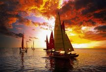 Sailboats, Sunsets and Sunrises / Sunrise or Sunset at sea - nothing could be more romantic!