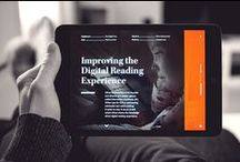 UI - Digital Publication / User interface layouts for digital publications on mobile devices. Showcasing navigation and placement of UI elements.