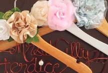Wedding Hangers Name by Bellicimo Hangers / Check out our galleries of beautiful personalized Hangers Wedding Name. Crafted by Bellicimo Hangers.