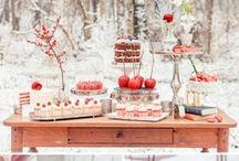 Mariage en hiver / Idées et inspiration pour un mariage en hiver : pommes de pin, bois, neige, éléments en argent ou pailletés, maille, ficelle...les idées ne manquent pas pour un mariage en décembre, janvier ou février.