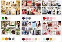 Palette de couleurs / De l'inspiration pour trouver et bien associer les couleurs de votre mariage