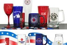 MADE IN THE USA / We're really proud of our extensive line of Made in the USA products from glassware to ceramics to active hydration.  Trade Unions feel confident they are supporting union jobs here in the USA when they buy drinkware custom decorated in our union facility.