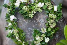 Wreath... / Ou comment décorer ma porte tout au long de l'année...