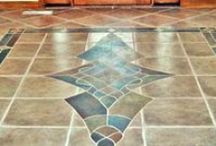 Tile flooring options for whole house or rooms. / Get rid of your old floors and update them with custom designed Tile flooring.