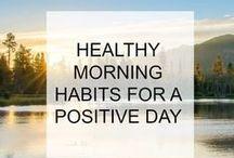 HABITS AND ROUTINES / habits, routines, self-improvement, self-development, productivity, happiness, positivity, positive habits, rituals, mindset, success