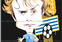 My work - Caricatures - Uruguayan Football Players / http://xeeme.com/DiegoAbelenda