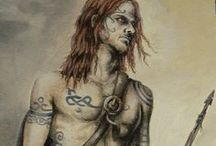 i.c. PiÇTS / The Picts were a group of Late Iron Age and Early Medieval Celtic people living in ancient eastern and northern Scotland.  / by a.l.s (1*)