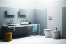 VERA - Sanitary ware - Washbasins - Bathroom / Basic, flowing and embracing, the Vera collection enhances our playful and simple lifestyle. The floor-standing and wall-hung WCs use the Water Saving flush system.