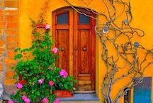 Doors, gates, windows and balconies / I am facinated by the colors and creativity that people, especially those from other countries, put into openings of their homes.  As I get older, I like more and more color.