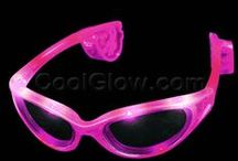 LED & Glow Sunglasses / Party all night with these rad light-up LED or glow glasses!