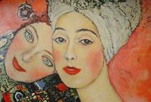 """Klimt, Schiele and Others: Austrian Expressionist & Secession Movement from 1890-early 1900's / Symbolist Klimpt was a founder of the Austrian Secession Movement also represented by Oskar Kokoschka (on Board Expressionism) and Egon Schiele (protoge of Klimpt). Although rivals, both Schiele & Klimt concentrated on portraiture and the nude, using psychologically charged body language to challenge the conformity that dominated Viennese culture. Others artists included Richard Gerstl and Max Oppenheimer (""""Mopp"""")."""