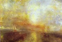 Turner: Prefiguring Impressionism / Joseph Mallord William (JMW) Turner (1775-1851), was a British Romantic landscape painter, water-colorist, & printmaker. Turner was a controversial figure in his day, but is now regarded as the artist who elevated landscape painting to an eminence. Note: Previously some of the pins below had been misattributed to William Turner (of Oxford), a contemporary of his.