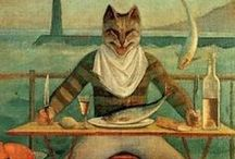 Balthus, the King of Cats / Balthasar Klossowski de Rola (1908 – 2001) was an esteemed, controversial Polish-French modern artist. In 1921 his book Mitsou with 40 drawings was published. It was the story of a young boy & his cat with a preface by his mentor, Rainer Maria Rilke, his mother's lover. Balthus showed no interest in modernist styles. His paintings often depicted pubescent young girls in erotic and voyeuristic poses. Balthus was one of the few living artists to be represented in the Louvre.