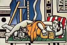 """Cubism - Purism: Le Corbusier, Ozenfant, Leger & / A 1920s French movement founded by Le Corbusier & Amedee Ozenfant, based on theories of their 1918 book """"Après le Cubisme"""", an ideal art made up of clear, ordered forms, inspired by machines and modern industrial society - figurative art of basic forms stripped of detail and supposedly pure in color, form & design. Others artists loosely associated with the movement were Fernand Leger, Juan Gris, and the Russian-Lithuanian sculptor Jacques Lipchitz."""