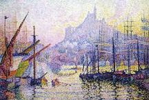 Neo Impressionism: Pointellism and Divisionism / Pointellism is the technique of employing a small dot of color to create the maximum color intensity. It suggests both the style created by Georges Seurat & the ensuing movement (1886-1906). In a 2nd phase - led by Signac, Cross & Rysselberghe, after they had discovered the intense colors of Southern France – the color exaltation was achieved on the macro-level of painting's areas rather than on the micro-level of individual dots. The influence of these movements was far ranging.